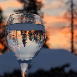 Winter toast  by Susan Campbell - Artistic Objects Glass