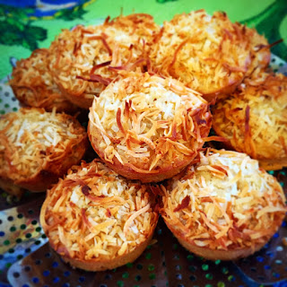 Coconut, Banana And Oat Muffins