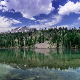 by Becca McKinnon - Landscapes Waterscapes ( terrae lake, 2015, cliff lake, lakes, lassen, july, lassen park, shadow lake )