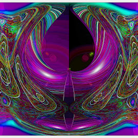 Abstract Composition #128 by Morris Kleyman - Abstract Patterns ( patterns, abstract art, colors, digital art, manipulation )