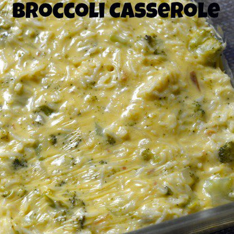 Quick and Easy Broccoli Rice Casserole