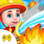 Rescue People From Fire House Fun Fire Fighter Icon