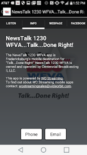 NewsTalk 1230 WFVA - screenshot