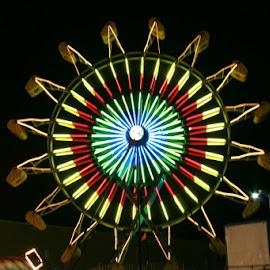 Ferris WHeel by Donald Lancaster - City,  Street & Park  Amusement Parks