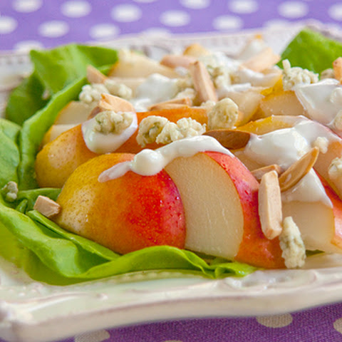 Pear Salad with Blue Cheese Dressing