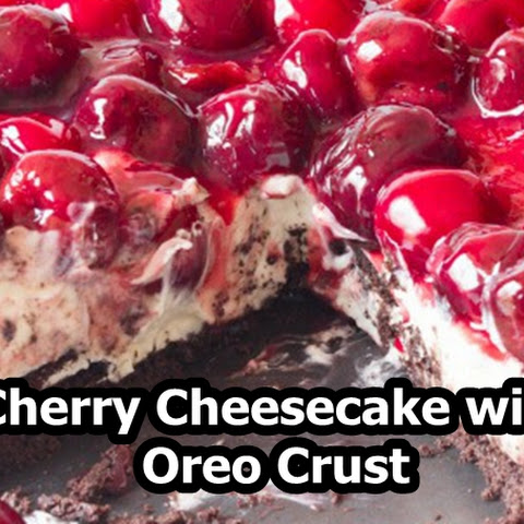 Cherry Cheesecake with Oreo Crust