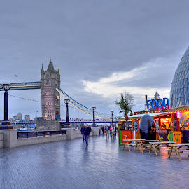An Evening at Tower Bridge  by Prottay Adhikari - Buildings & Architecture Bridges & Suspended Structures ( uk, england, london, cities, tower bridge, monument, evening, united kingdom,  )
