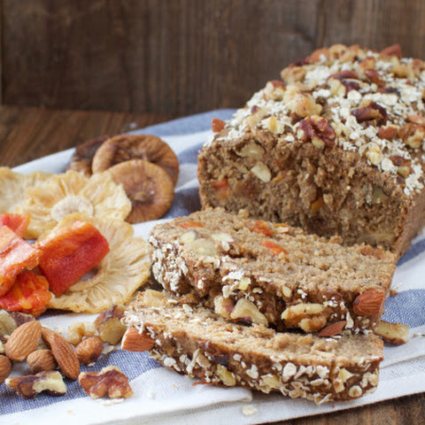 Easy Vegan Fruit & Nut Bread {gluten- & oil-free}
