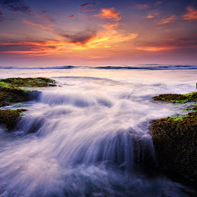 Serenade by Eggy Sayoga - Landscapes Sunsets & Sunrises ( bali, indonesia, d7000, wave, 11-16mm, beach, motion, nikon, tokina, lima )