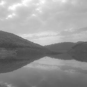 Natural Mirror by Vinod Velayudhan - Landscapes Mountains & Hills ( black & white, bw, ooty, landscape, tamilnadu )