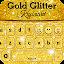 Gold Glitter Keyboard