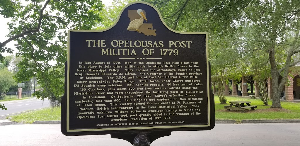In late August of 1779, men of the Opelousas Post Militia left from this place to join other militia units to attack British forces in the lower Mississippi Valley. They crossed the Atchafalaya swamp ...