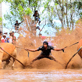 Surfing in the mud by Ya Ser Lubis - Sports & Fitness Rodeo/Bull Riding