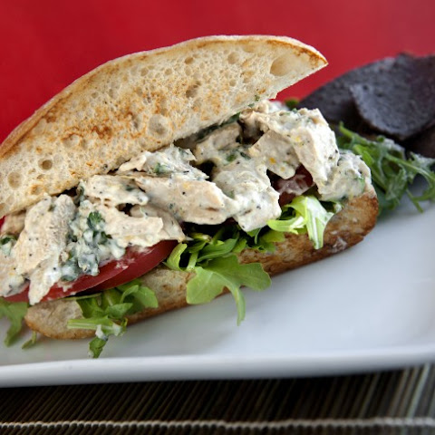 Lemon Pepper Chicken Salad Sandwiches with Herb Mayo