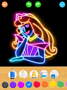Draw Glow Princess Screenshot