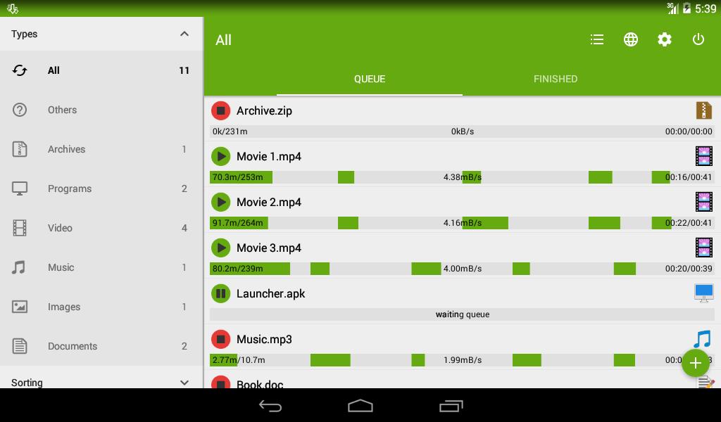 Advanced Download Manager – Screenshot