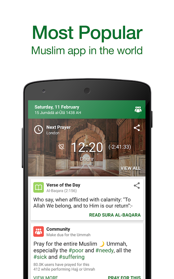 Muslim Pro: Prayer Times Quran Screenshot 0