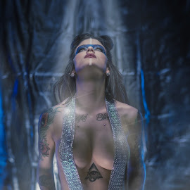Ascension   by Dan Rowe - People Body Art/Tattoos ( model, topless, makeup, tattoos, alien, tattoo )