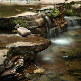 Kitchen's Creek 1 by Buddy Eleazer - Nature Up Close Rock & Stone ( ricketts glen state park pa )