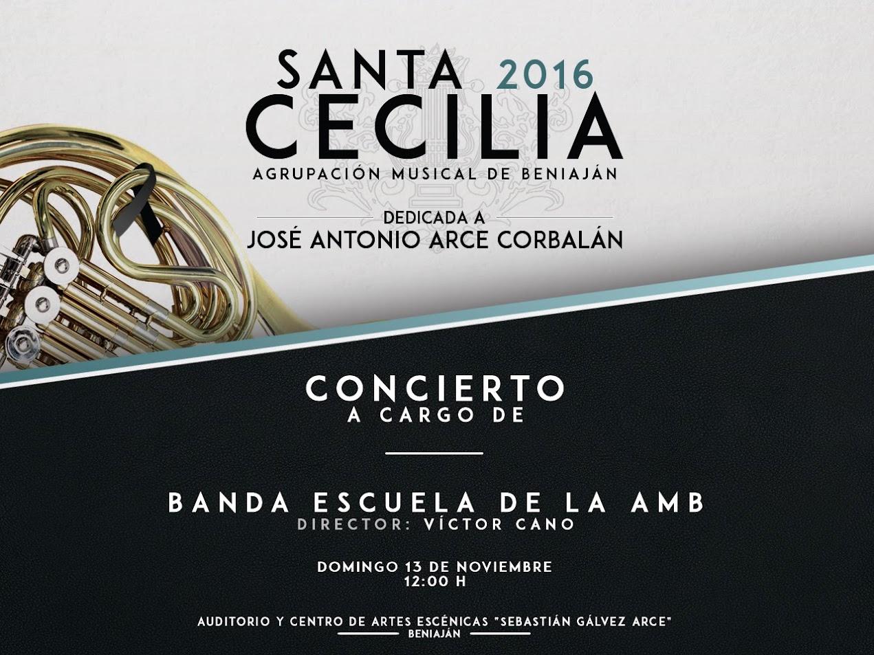Cartel Sta. Cecilia Banda Escuela
