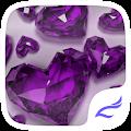 APK App Purple Crystal Heart Theme for BB, BlackBerry