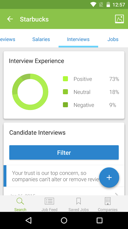 Job Search, Salaries & Reviews Screenshot 5