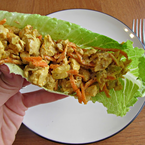 Curry Chicken Salad Lettuce Boats