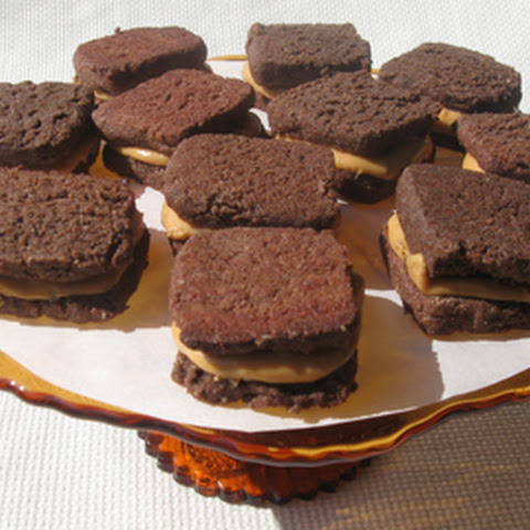 Chocolate Peanut Butter Cream Sandwich Cookies, gluten-free