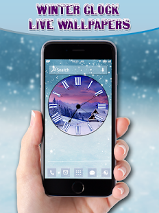 Winter Clock Live Wallpapers - screenshot