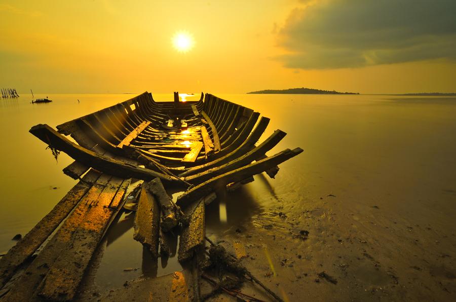 Golden Skeleton by Irwansyah St - Transportation Boats