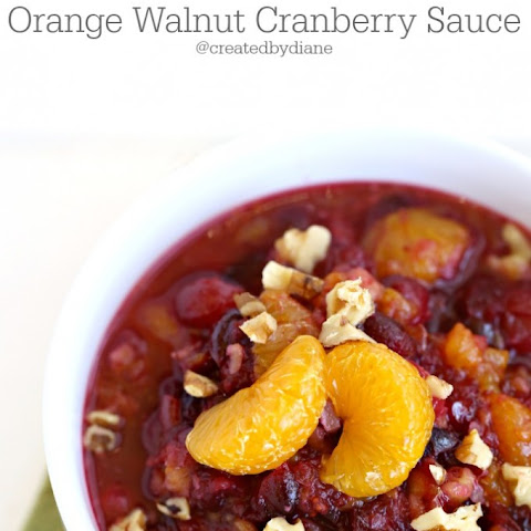 Orange and Walnut Cranberry Sauce