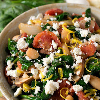 Greek Spinach with White Beans and Feta