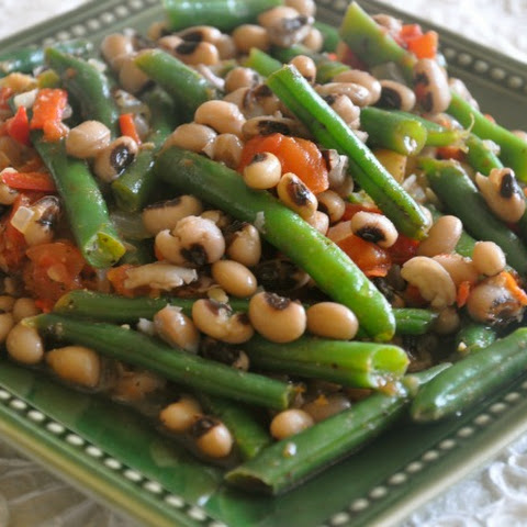 Curried Green Beans and Black-Eyed Peas
