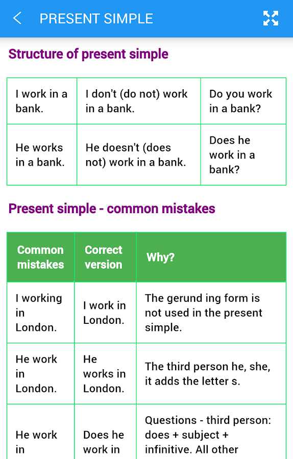 English Tenses Screenshot 5