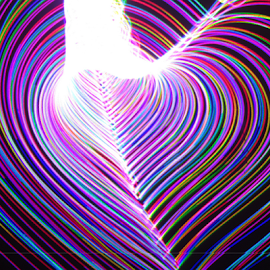 Happy Valentines Day by Jim Barton - Abstract Patterns ( laser generated.........eternal human heart, heart, laser light, light design, colorful, valentines day, laser design, laser, human heart, laser light show, light, science )