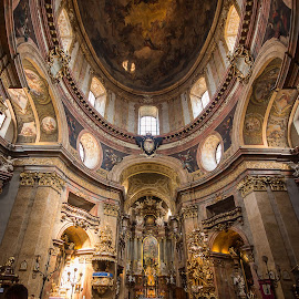 Katholische Kirche (St. Peters Church) Vienna by Simon Page - Buildings & Architecture Places of Worship