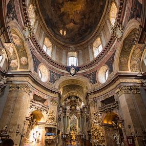 Katholische Kirche (St. Peters Church) Vienna by Simon Page - Buildings & Architecture Places of Worship