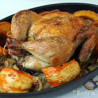 Roast Chicken with Fennel and Squash