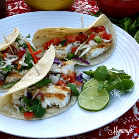 10 best tilapia fish tacos with coleslaw recipes yummly for Fish tacos with tilapia