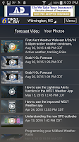 Screenshot of WECT 6 First Alert Weather