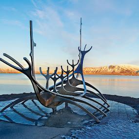 Solfar - the Sun Voyager by Andrew Robinson - City,  Street & Park  Vistas ( viking, sun voyager, iceland, reykjavik, solfar )