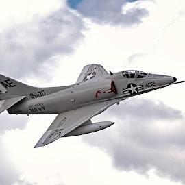 Douglas A-4C Skyhawk by Jim Baker - Transportation Airplanes