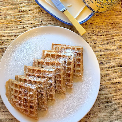 Holiday Brunching with Spiced Pearl Sugar Waffles