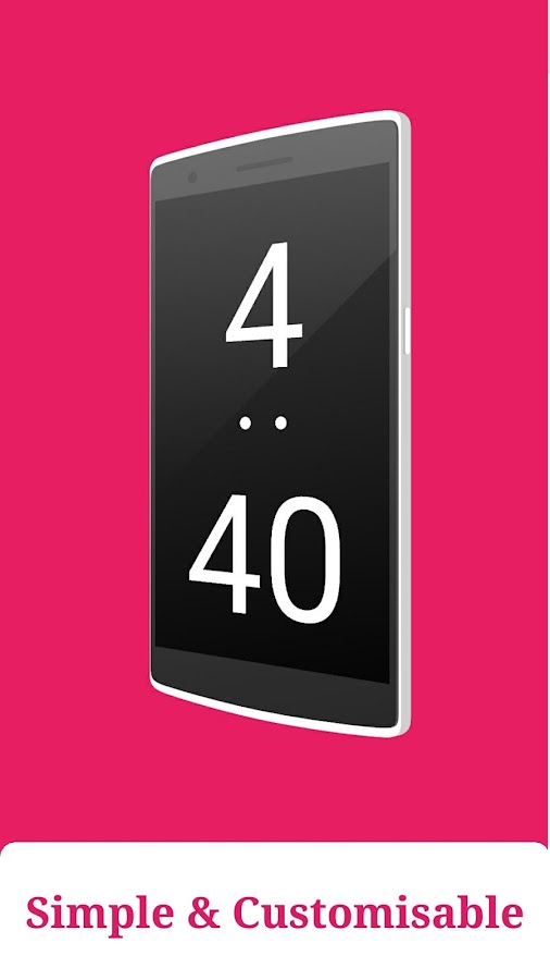 Evo Night Clock -Bedside Clock Screenshot 1
