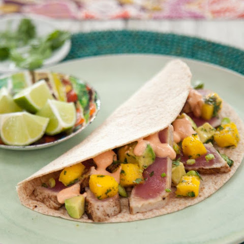 Tuna and Mango Tacos with Chipotle Cream