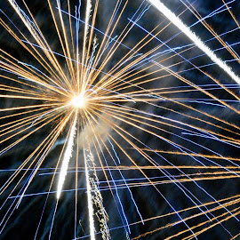 Straight Lines by Neil Wilson - Abstract Fire & Fireworks