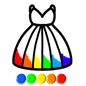 Glitter Dress Coloring and Drawing for Kids For PC / Windows 7/8/10 / Mac – Free Download