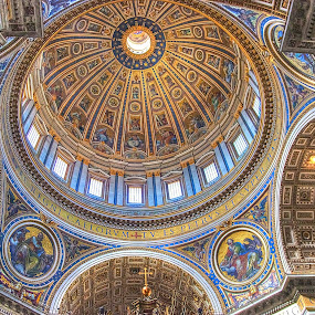 St. Peters Basilica by Peter Kennett - Buildings & Architecture Places of Worship ( church, rome, st. peters, dome, basilica, italy,  )