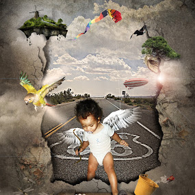 i'm home by Budie Deathlust - Digital Art People ( kid son boy wings angel )