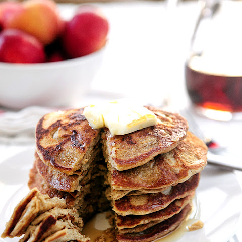 Steel Cut Oat Apple Blender Pancakes (Gluten Free)